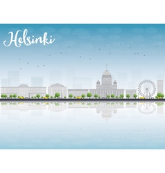 Panorama of Old Town in Helsinki vector image