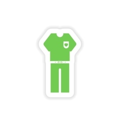 Paper sticker on white background men trousers vector