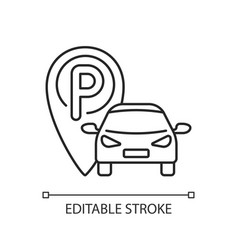 parking area linear icon vector image