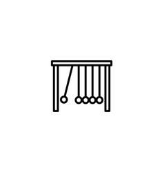 pendulum momentum icon vector image