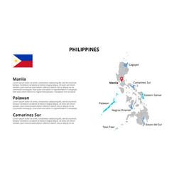 Philippines map infographic template vector