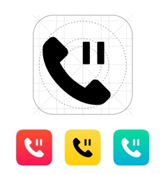 Phone call pause icon vector image
