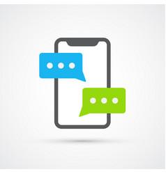 phone communication trendy social symbol trendy vector image