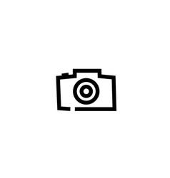 photographe an old style camera logo design vector image