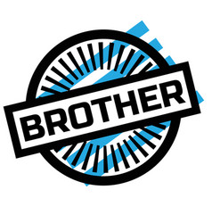 Print brother stamp on white vector