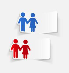 Realistic design element couple in love vector