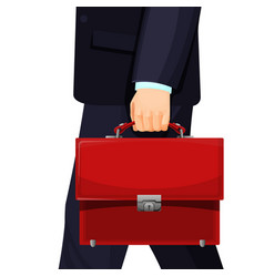 realistic picture of man with budget briefcase vector image