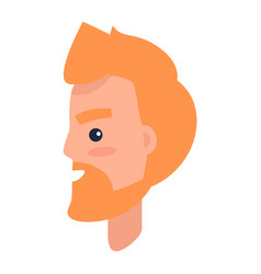 redhead male character in profile vector image
