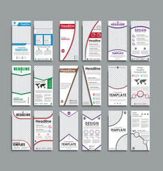 set white flyers format mm vector image