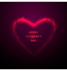 shine glow pink heart vector image