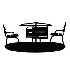 Silhouette Swing Black on White Background vector