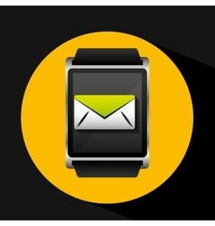 Smart watch concept email social media vector
