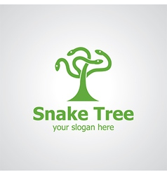 snake tree vector image