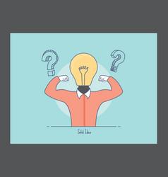Solid idea icon vector