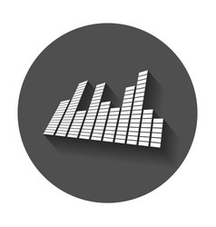Sound waveforms icon sound waves and musical vector
