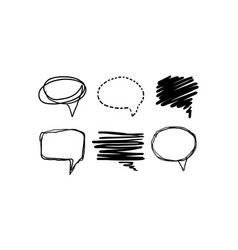 speech bubble set text balloons of different vector image