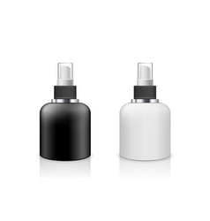 Spray bottle black and white products vector
