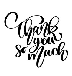 Thank you so much card hand drawn greetings vector