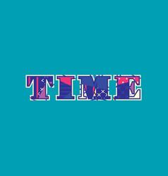 Time concept word art vector