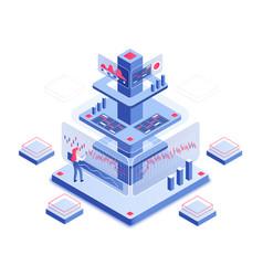 Trading platform isometric vector