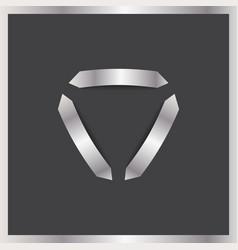 Trinity arrow reactor logo luxury royal silver vector
