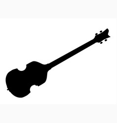 violin style bass guitar silhouette vector image