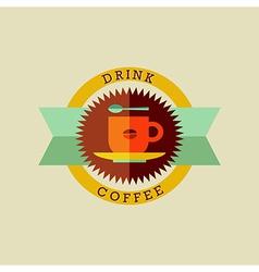 Drink coffee badge set vector image