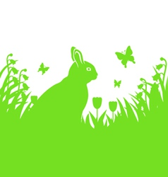 easter hare silhouette vector image