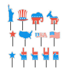 Foam sign president election of america set photo vector