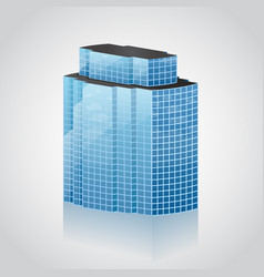 modern office building vector image vector image