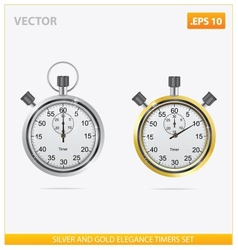 silver and gold elegance timers vector image