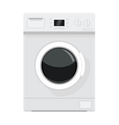 washing machine flat design vector image vector image