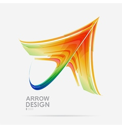 Arrow colored design vector image