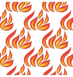 fire seamless isolated vector image vector image