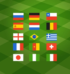 Flags of different national football teams vector image