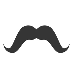 moustache hair mouth face design vector image