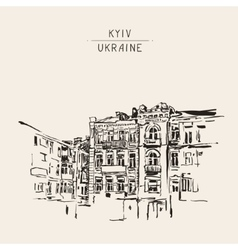 original sketch of Kyiv Ukraine town landscape vector image
