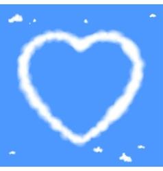 Cloud heart vector image vector image