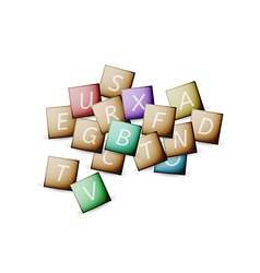 cubes and letters vector image vector image