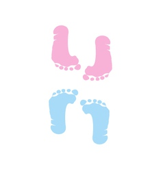 footprint of girl and boy vector image