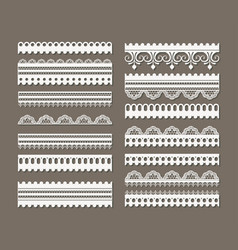 lace models set in monochrome silhouette vector image