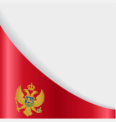 montenegro flag background vector image