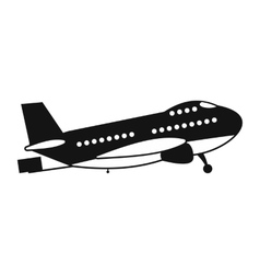 Passenger airplane black simple icon vector image vector image
