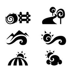 rural icon vector image vector image