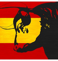 spanish bull vector image