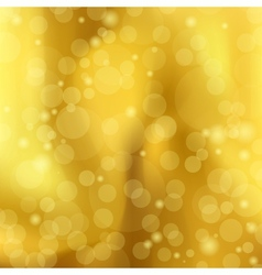abstract a golden background with Bokeh vector image vector image
