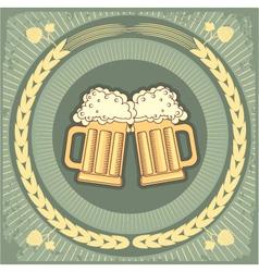 beer jug vector image vector image