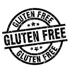 gluten free round grunge black stamp vector image vector image