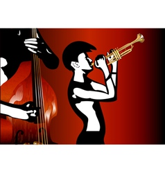 musicians black and white vector image