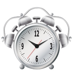 Old mechanical alarm clock vector image vector image